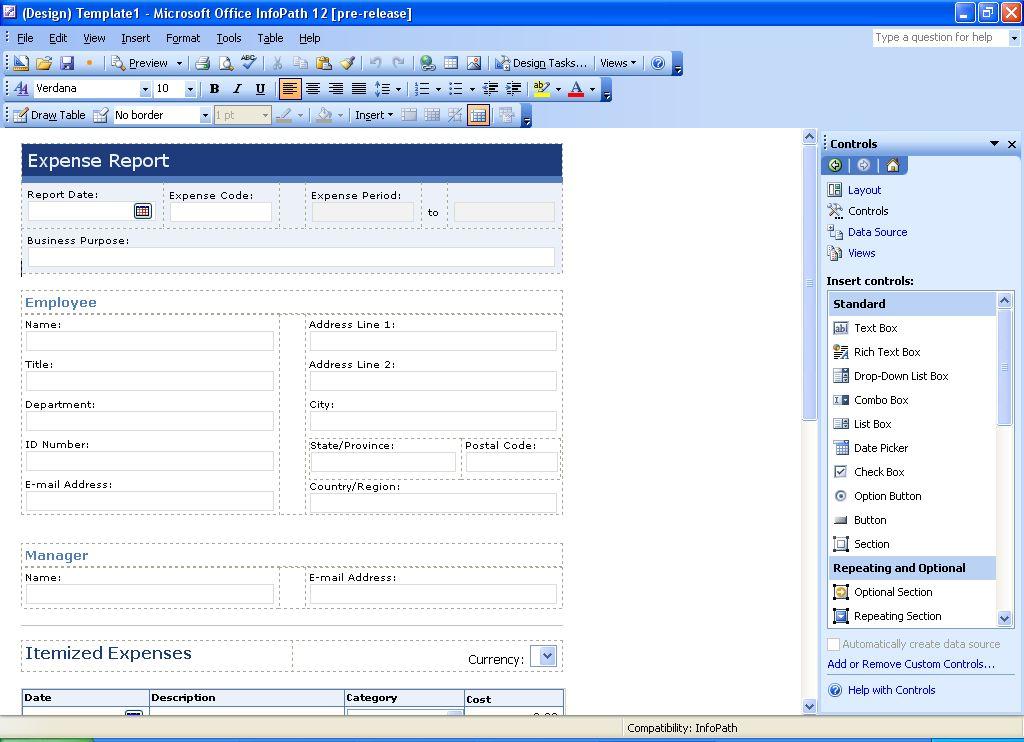 Infopath Form Template - Apigram.com