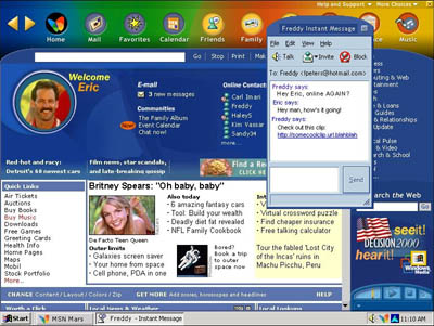 MSN Mars - Welcome Screen