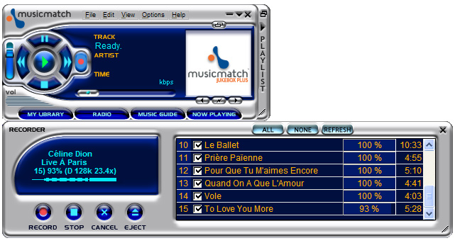 musicmatch windows 7
