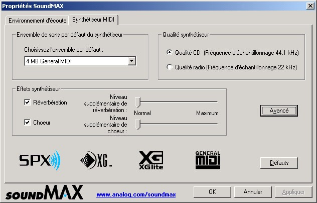 SoundMAX Integrated Digital Audio - Free download and software reviews