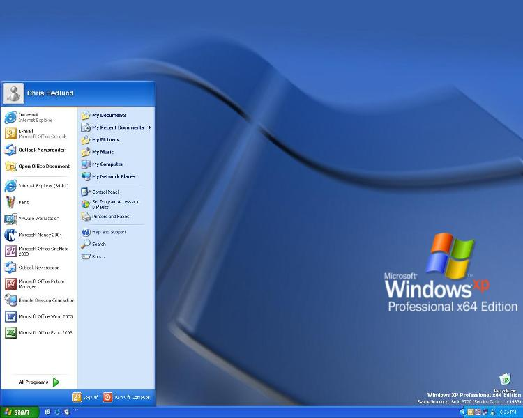 Microsoft windows xp x64 professional corporate sp2 rc integrated multi image eth0