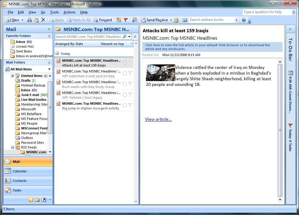 Msoffice Outlook 2007 license