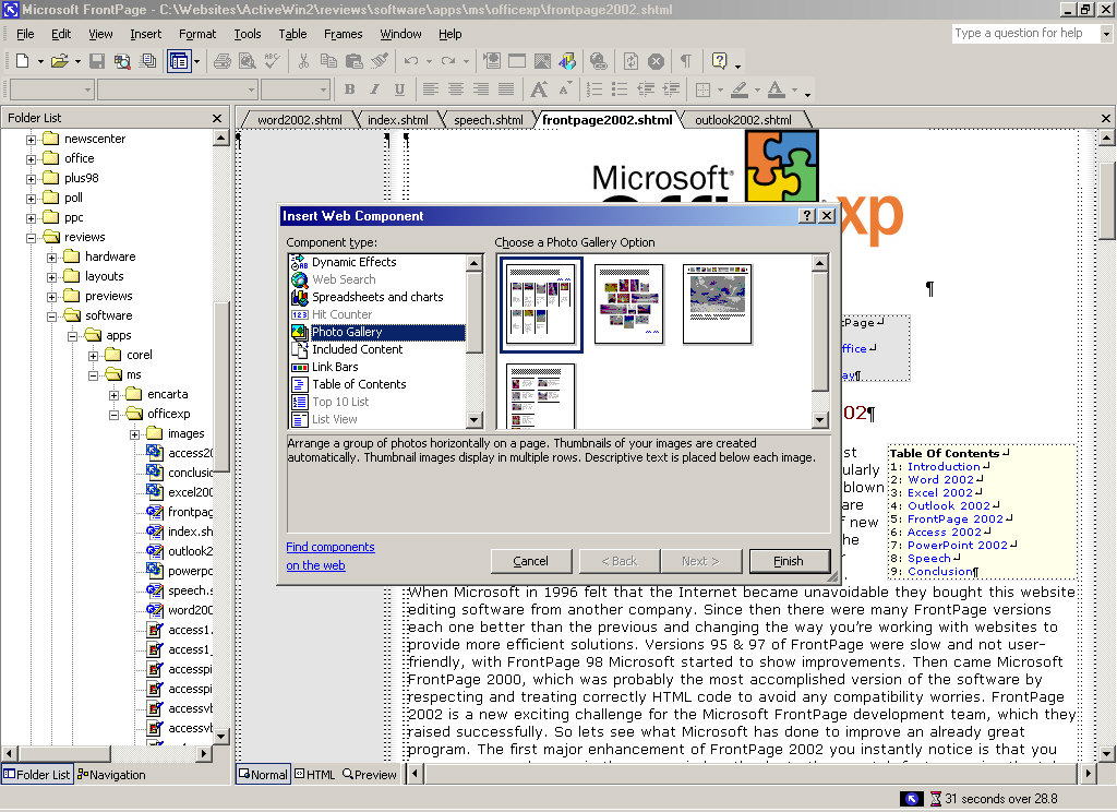 Front page software for xp