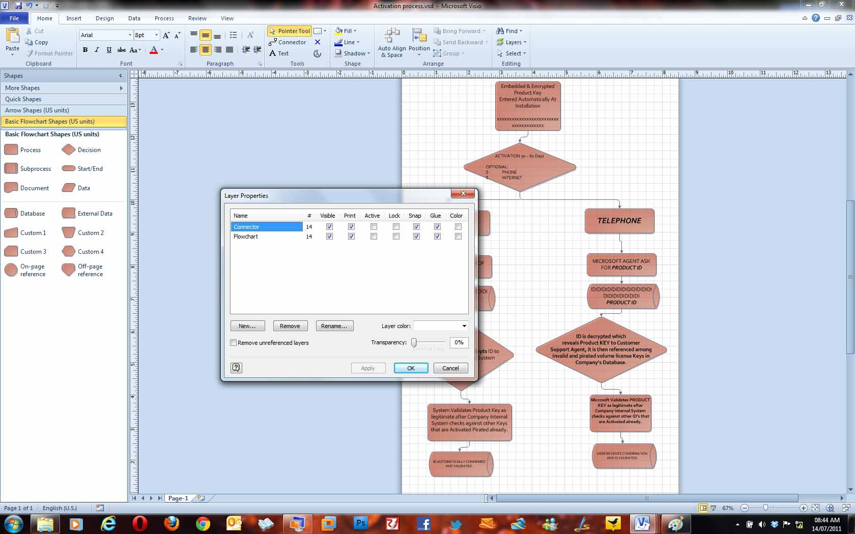 Microsoft Visio Premium 2010 Review Process Flow Diagram Office Whats New In