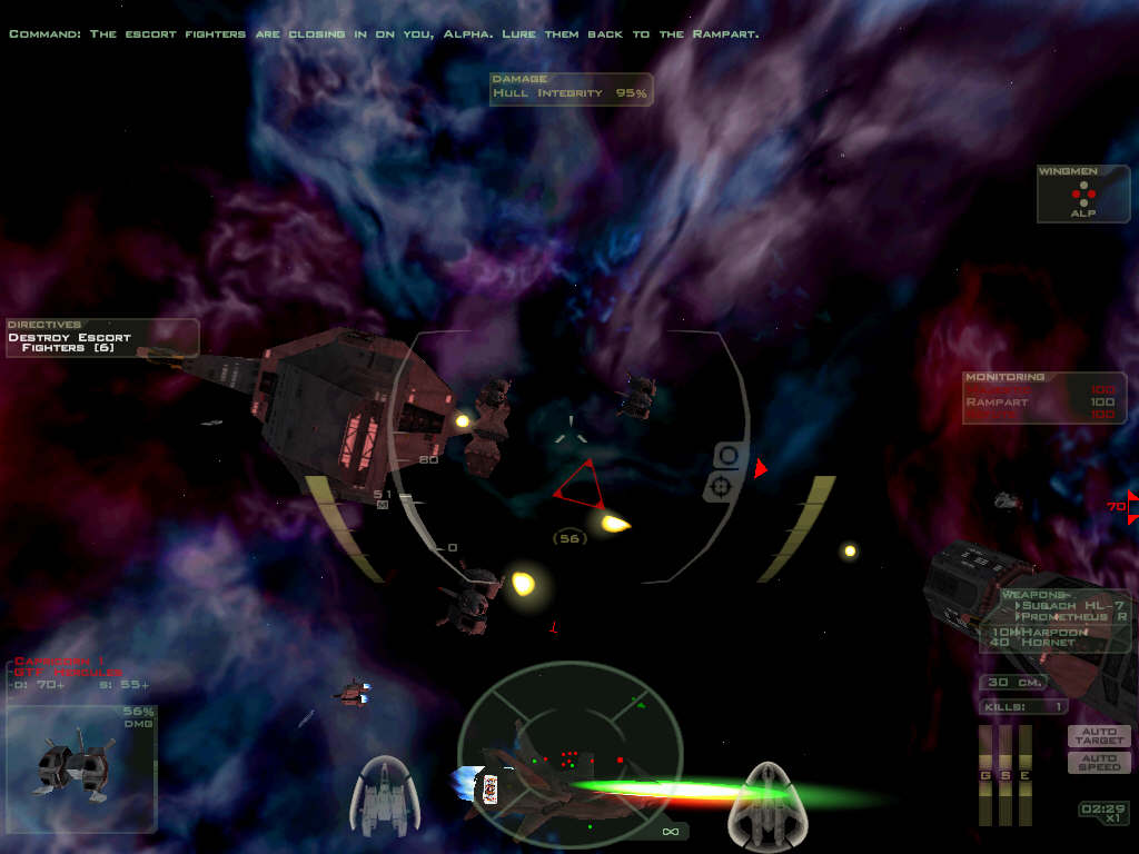 Tech Room -- Learn all about the ships in Freespace 2, view cutscenes