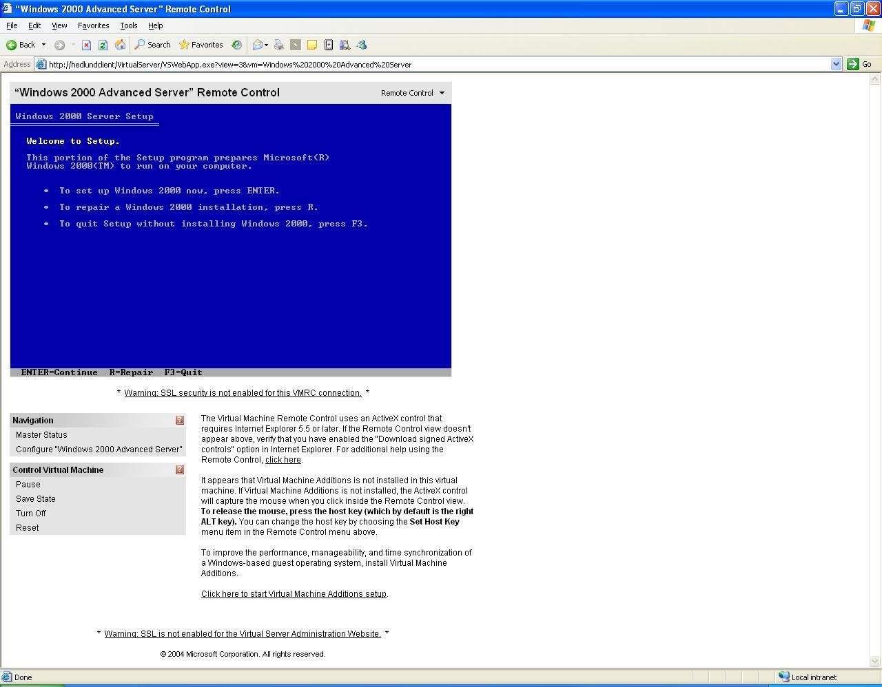 ActiveWin com: Virtual Server 2005 Enterprise Edition - Review
