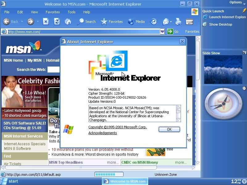 last internet explorer for windows xp