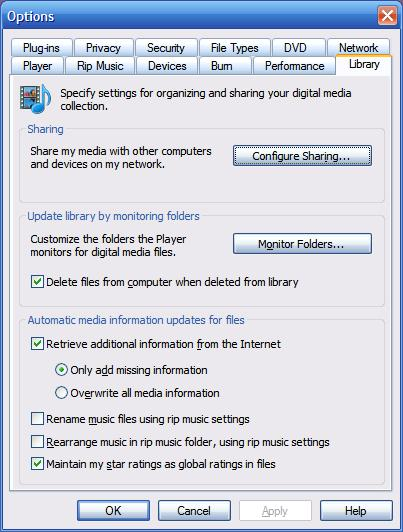 how to change groove to windows media player