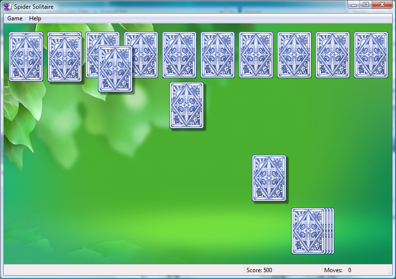 flash game spider solitaire